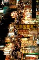 Temple Street Market, Kowloon, Hong Kong, China Fine Art Print