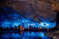China, Guilin, Reed Flute Cave natural formations Fine Art Print