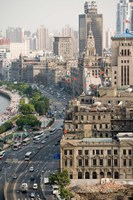View of the Bund District Along Huangpu River, Shanghai, China by Paul Souders - various sizes