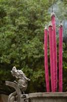 Joss Sticks Burning at the Confucian Temple of Literature, Jianshui, Yunnan Province, China Fine Art Print