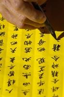 Man doing Calligraphy, Jianchuan County, Yunnan Province, China Fine Art Print