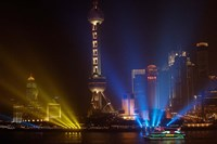 Oriental Pearl TV Tower in Pudong Park, Shanghai, China Fine Art Print