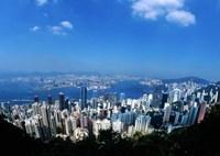Majestic Hong Kong Harbor from Victoria Peak, Hong Kong, China Fine Art Print