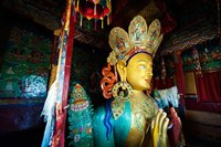 Golden Maitreya Buddha, Thiksey Monastery, Thiksey, Ladakh, India Fine Art Print