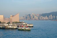Kowloon ferry terminal and clock tower, Hong Kong, China Fine Art Print