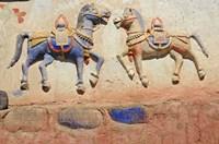 India, Ladakh, Thiksey, Indian and Buddhist gods Fine Art Print