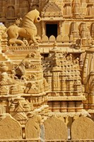 Carvings on Jain Temple, Jaisalmer, India by Adam Jones - various sizes
