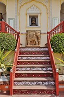 Steps at Raj Palace Hotel, Jaipur, India by Adam Jones - various sizes