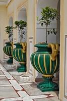 Plant Pots, Raj Palace Hotel, Jaipur, India by Adam Jones - various sizes