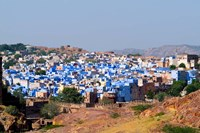 Blue City of Jodhpur from Fort Mehrangarh, Rajasthan, India by Bill Bachmann - various sizes - $44.49