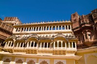 Close-up of Building in Jodhpur at Fort Mehrangarh, Rajasthan, India by Bill Bachmann - various sizes