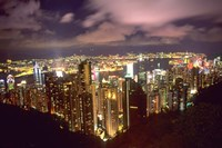 Hong Kong Skyline from Victoria Mountain, China by Bill Bachmann - various sizes