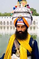 Sika Hindu Religious Man in Bangla Shib Gurudwara, Sika Great Temple, New Delhi, India by Bill Bachmann - various sizes