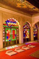 Stained Glass Windows of Fort Palace, Jodhpur at Fort Mehrangarh, Rajasthan, India Fine Art Print