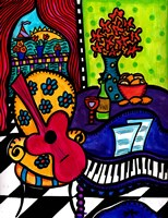 A Little Jazz By The Seaside Fine Art Print
