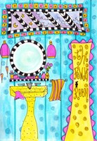 Bijou's Powder Room Fine Art Print