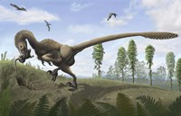 Saurornitholestes seeks prey in burrows by Emily Willoughby - various sizes