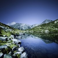 Ribno Banderishko Lake in Pirin National Park, Bulgaria Fine Art Print