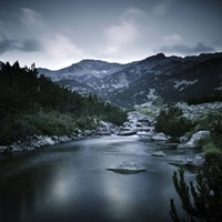Small river in the mountains of Pirin National Park, Bansko, Bulgaria Fine Art Print