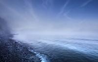 Misty seaside in the evening, Mons Klint cliffs, Denmark by Evgeny Kuklev - various sizes