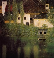 Unterach Manor and Lock Chamber on the Attersee Lake, 1908 by Gustav Klimt, 1908 - various sizes, FulcrumGallery.com brand