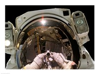 Astronaut Taking a Self-Portrait in space - various sizes, FulcrumGallery.com brand