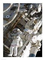 Maintenance on the International Space Station