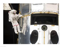 Astronaut performs work on the Hubble Space Telescope - various sizes, FulcrumGallery.com brand