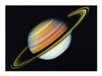 Saturn Taken By Voyager 2 From A Distance of 27 Million Miles Fine Art Print