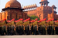 Indian Army soldiers march in formation, New Delhi, India by Jaynes Gallery - various sizes
