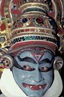 Kathakali Dancer Portrays Scenes from Hindu Epics, India Fine Art Print