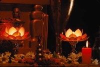 Hindu Prayer Altar, India Fine Art Print