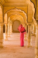 Arches, Amber Fort temple, Rajasthan Jaipur India Fine Art Print