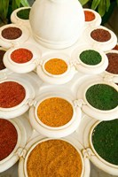 Bowls of Spices from Above, Agra, India by Bill Bachmann - various sizes