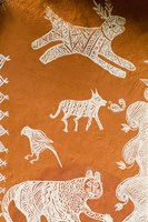 Close-up of Painting in Ranthambore National Park, Rajasthan, India by Bill Bachmann - various sizes