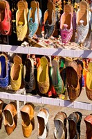 Shoes For Sale in Downtown Center of the Pink City, Jaipur, Rajasthan, India by Bill Bachmann - various sizes
