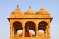 Native woman, Tombs of the Concubines, Jaiselmer, Rajasthan, India by Jaynes Gallery - various sizes