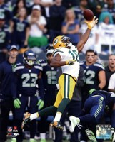 Randall Cobb Receiving Football Fine Art Print