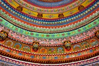 Ceiling of Shree Laxmi Narihan Ji Temple, Jaipur, Rajasthan, India. Fine Art Print