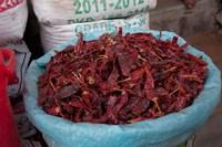 Dried chilies, Jojawar, Rajasthan, India. by Inger Hogstrom - various sizes - $24.99