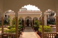Hotel Kiran Villa Palace, Bharatpur, Rajasthan, India. by Inger Hogstrom - various sizes - $24.99