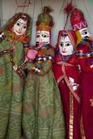 Kathputli, traditional Rajasthani puppets, Pushkar, Rajasthan, India by Inger Hogstrom - various sizes