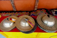 Brass cymbals at Hemis Monastery, Ladakh, India Fine Art Print