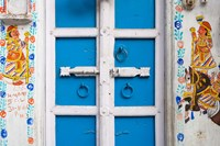 House painted blue, Udaipur, Rajasthan, India by Keren Su - various sizes, FulcrumGallery.com brand