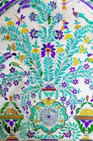 Decorated Tile Painting at City Palace, Udaipur, Rajasthan, India by Keren Su - various sizes, FulcrumGallery.com brand