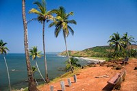 Goa, India. Big and Little Vagator beaches Fine Art Print
