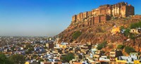 Cityscape of the Blue City with Meherangarh, Majestic Fort, Jodhpur, Rajasthan, India by Keren Su - various sizes