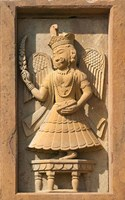 Stone carving in Hotel Prithvi Vilas Palace, Jhalawar, Rajasthan, India by Keren Su - various sizes