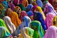 Women in colorful saris, Jhalawar, Rajasthan, India by Keren Su - various sizes
