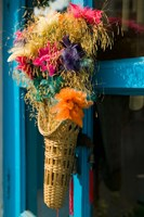 Decorative Flowers in Shopping Village, Delhi, India by Walter Bibikow - various sizes